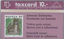 SWITZERLAND(L&G) - Swiss Stamps/Cats, CN : 109E, Tirage 55000, 09/91, Mint - Francobolli & Monete