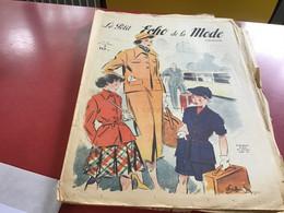 Le Petit écho De La Mode Magazine De Mode  Paris 1949 Sans Le Patron Train Gare Sncf - Fashion