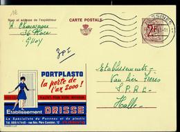 Publibel Obl. N° 2225  ( Portplasto La Porte De L'an 2000  Ets: DRISSE - Flobecq) Obl. LESSINES  1968 - Publibels