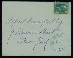 "TREASURE HUNT [01801] US Postal Cover Sent To New York Bearing Washington 3c Green And ""MAGNOLIA FLA"" Postmark On Front - Vari"