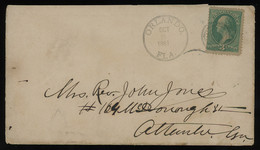 TREASURE HUNT [01814] US 1881 Cover Sent From Orlando, FL Bearing Washinton 3c Green Single Franking, Neatly Struck Pmk - Storia Postale
