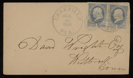 TREASURE HUNT [01829] US 1883 Washington 3c Green Postal Cover From South Lake Weir, Florida To Westerly, Rhode Island - Storia Postale