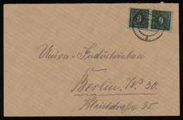 TREASURE HUNT [01840] SBZ Mecklenburg 1945 Cover Sent To Berlin Franked With A Pair Of 6 Pf Black Stamps - Sovjetzone