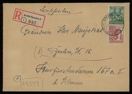 TREASURE HUNT [01885] Allied Occupation 1948 Reg. Cover Sent Within Berlin Bearing 16 Pf Dark Blue Green + 60 Pf Brown - Zona AAS