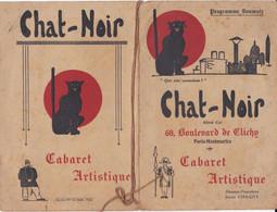 """""""CHAT NOIR"""", Cabaret Artistique, Paris Montmartre, Programme Souvenir, - Reclame"""