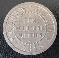 France - Jeton Chanteclair Paris Au Coq - Bon Pour Une Audition - Métal Argenté - Diam. 27mm - Professionali / Di Società