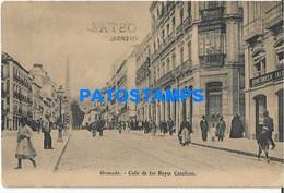 169798 SPAIN ESPAÑA GRANADA ANDALUCIA CALLE DE LSO REYES CATOLICOS & RAILROAD POSTAL POSTCARD - Zonder Classificatie