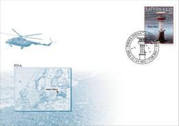 Latvia Lettland Lettonie 2021 (16) Lighthouses Of Latvia - Irbe - Baltic Sea (unaddressed FDC) - Lettonie