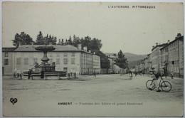 AMBERT Fontaine Des Allées Et Grand Boulevard - Ambert