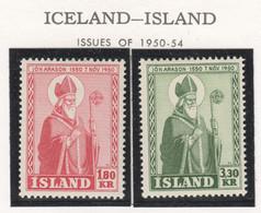 SP683 1950 ICELAND BISCHOF ARASON MICHEL #271-2 1SET MNH - Nuevos