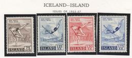 SP689 1955,1957 ICELAND SPORTS MICHEL #298,9,314,5 4ST MNH - Nuevos