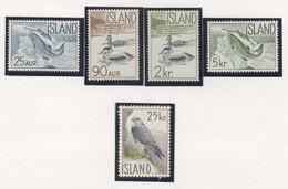 SP703 1959,1960 ICELAND FAUNA BIRDS DUCKS MARINE LIFE MICHEL #335-9 1SET MNH - Nuevos