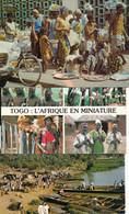 Afrique - Togo - Lot De 3 Cartes Marché De Lomé, Danseurs Et Bords Du Fleuve - Togo