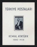 Turkey, Kemal Ataturk Miniature Sheet 1938, As Per Scan, Mint Never Hinged. - Unused Stamps