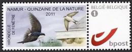 DUOSTAMP** / MY STAMP** Namur - 15zène De La Nature 2011 - Delichon Urbica / Hirondelle De Fenêtre / Raamzwaluw - BUZIN - Personalisierte Briefmarken