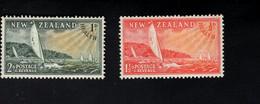 1347826589  1951 SCOTT B38 B39 (XX) POSTFRIS MINT NEVER HINGED POSTFRISCH EINWANDFREI  -  RACING YACHTS - Unused Stamps