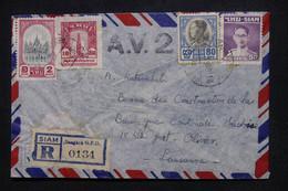 SIAM - Enveloppe En Recommandé De Bangkok Pour La Suisse En 1948, Affranchissement Recto/ Verso - L 106127 - Siam