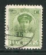 LUXEMBOURG- Y&T N°197- Oblitéré - 1921-27 Charlotte Voorzijde