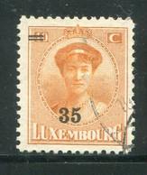 LUXEMBOURG- Y&T N°198- Oblitéré - 1921-27 Charlotte Voorzijde