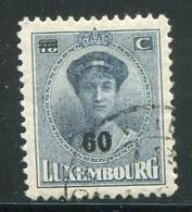 LUXEMBOURG- Y&T N°199- Oblitéré - 1921-27 Charlotte Voorzijde