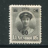 LUXEMBOURG- Y&T N°200- Neuf Avec Charnière * - 1921-27 Charlotte Voorzijde