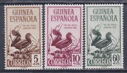 Guinée Espagnole N° 339 / 41 XX Journée Du Timbre, Les 3 Valeurs Sans Charnière, TB - Guinée Espagnole