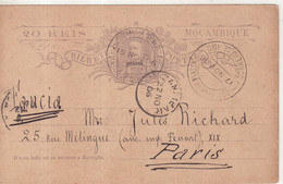 "NYASSA : ENTIER POSTAL . "" IBO "" . VIA ZANZIBAR . POUR LE FRANCE . 1906 . - Nyassaland"