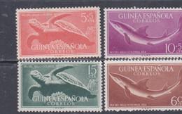 Guinée Espagnole N° 359 / 62 X Journée Du Timbre Colonial Les 4 Valeurs Trace De Charnière Sinon TB - Guinée Espagnole