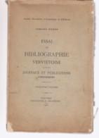 VERVIERS   Essai De Bibliographie    Journaux Et Publications, Périodiques - Belgio