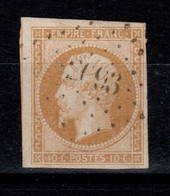 YV 13A Pas Aminci, 4 Marges + 1 Voisin , TTB Cote 20 Euros - 1853-1860 Napoleone III