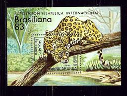 Nicaragua C1043 MNH 1983 Jaguar S/S - Nicaragua