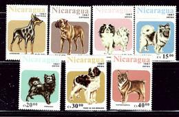 Nicaragua 1633-38 MNH 1987 Dogs    (ap2874) - Nicaragua