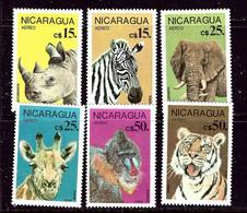 Nicaragua C1134-42 MNH 1986 Wild Animals    (ap6380) - Nicaragua