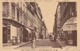 Cpa Sépia PARIS Rue DAUTANCOURT En Temps De Paix,animation,articles De Peche - Distrito: 17