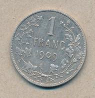 België/Belgique 1 Fr Leopold II 1909 Fr Morin 200a (134739) - 07. 1 Franc