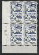 N° 2193 Saint Pierre Et Miquelon. Bloc De 4 Avec Coin Daté Du 17/12/81. Neuf ** (MNH). TB - 1980-1989