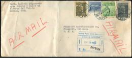SOUDAN - N° 330A + 353 + 370 + PA 64 / LR AVION DE LA HAVANE LE 19/11/1952 POUR USA - TB - Covers & Documents