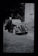 NÉGATIF PHOTO SIMCA 5 - NEGATIVE OLD CAR PHOTO - FOTO VECCHIA AUTO NEGATIVA - FOTO DE COCHE ANTIGUO NEGATIVO - Automobili