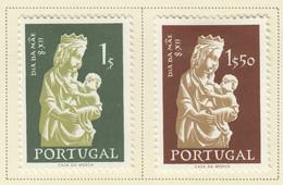 SP443 1956 PORTUGAL MADONNA ART SCULPTURE MICHEL #854-5 SET LH - Nuevos