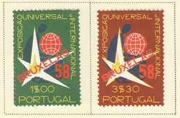 SP446 1958 PORTUGAL UNIVERSAL EXPOSITION BRUSSELS MICHEL #862-3 SET LH - Nuevos
