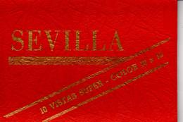 Leporello Spanien: Sevilla In Farbe, 10 Bilder, Je 10,5 X 15 Cm, Um 1960 - Unclassified