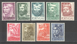 TT789 1955 PORTUGAL KINGS DYNASTY MICHEL #835-843 55 EURO SET LH - Nuevos