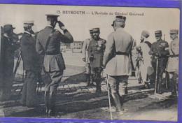 Carte Postale Liban Beyrouth L'Arrivée Du Général Gouraud  Très Beau Plan - Lebanon