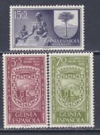 Guinée Espagnole N° 378 / 80 X Journée Du Timbre, Les 3 Valeurs Trace De Charnière Sinon TB - Guinée Espagnole