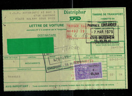LOT 482e  TIMBRE DE TRANSPORT DISTRIPHAR SPID 7/3/79 - Fiscaux