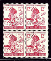 Germany B289 Used 1944 Block Of 4    (ap2431) - Ohne Zuordnung