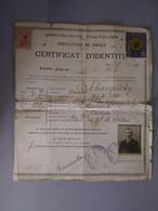 Certificat D Identité , Russe 1926 Timbre 5 F Or Societé Des Nations Haut Comissariat Pour Les Refugiés - Collections