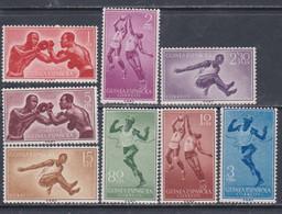 Guinée Espagnole N° 391 / 98 X Sports Divers, Les 8 Valeurs Trace De Charnière Sinon TB - Guinée Espagnole