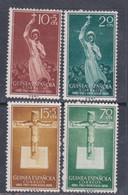 Guinée Espagnole N° 399 / 402 X 75è Anniversaire De La Mission Catholique, Les 4 Valeurs Trace De Charnière Sinon TB - Guinée Espagnole