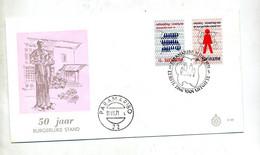 Lettre Fdc  1971 Burgerlijke - Suriname ... - 1975